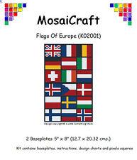 MosaiCraft Pixel Craft Mosaic Art Kit 'Flags of Europe' Pixelhobby