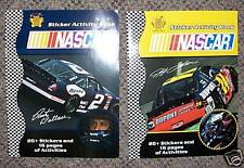 2 NEW NASCAR STICKER /  COLORING BOOKS WALLACE & GORDON