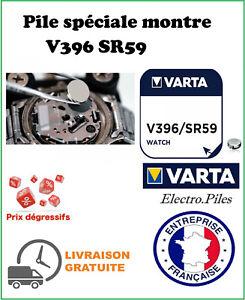 Piles montre VARTA, lot de 5 piles boutons V396 SR59 SR726W oxyde d'argent