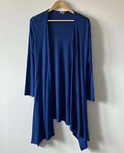 Kettlewell blue cardigan size M medium 216 royal wrap waterfall