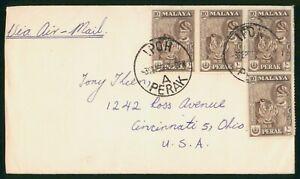Mayfairstamps Malaysia 1959 Ipoh Perak Tiger Block Cover wwp_64471