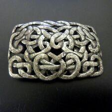 Keltische Gürtelschnalle Grau Spirale Knoten Herz Buckle Belt Wechselschließe