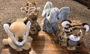 Russ Yomiko Classics Jungle Stuffed Plush Animal Lion Giraffe Elephant Tiger Cub