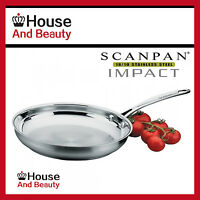 NEW Scanpan Impact Stainless Steel 28cm Fry Pan