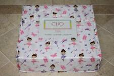 CLIO KIDS BALLERINA TWIN SHEET SET - PINK/PURPLE/WHITE - 3PC