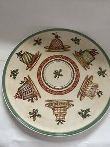 """Villeroy & Boch Cake Plate """"Festive Memories"""" 11.75"""" Used Display Only Christmas"""