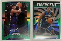 2019-20 Prizm Jarrett Culver Green and Emergent 2 ct RC Lot Timberwolves