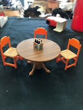 TOMY Vintage Smaller Home & Garden Dollhouse Furniture Table and chairs, Pepsi