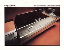 B&O 5000 Original Cassette Recorder Brochure