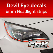 Devil Eye headlight/detailing strips - Flourescent red or choice of colours