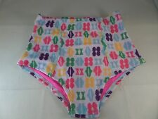 Sweet on Sunshine High Waist Swim Bottoms By Lolli Pin-UP Vintage Size Small