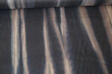 Stretchstoff dunkelblau-beige Batik Kleiderstoff Dekostoff #03045