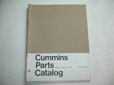 Cummins Engine PARTS CATALOG Book List Manual V-525 VT-635 VT-700 VT-825 Service