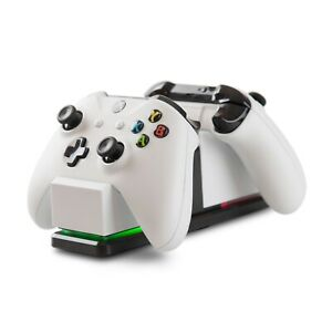 PowerA - Dual Controller Charging Station for Xbox One - White. New In Box