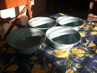 "Set 4 Waechtersbach Germany ""Lifestyle"" 6-3/4"" Aqua Rim Bowls 1999-2000 EUC!"
