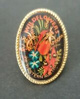WILDFLOWERS OF WESTERN AUSTRALIA Enamel Lapel Souvenir Pin Badge