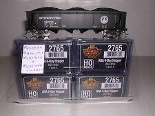 "B.L.I. #2765 B.& O.W2b ARA 70 Ton 4-Bay ""Black"" Hopper Cars  w/4 Diff.#s  H.O."