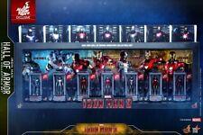 Hot Toys Marvel Iron Man 3 Hall of Armor Miniature Collectible Set (Set of 7)