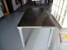 OFFICE 1600MM RECTANGULAR TABLE WITH STEEL LEGS BRISBANE