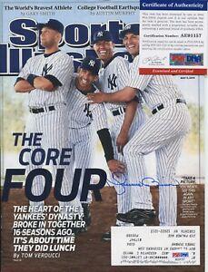 Mariano Rivera NY Yankees autograph PSA/DNA signed Sports Illustrated magazine