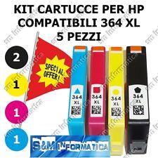 KIT 5 CARTUCCE COMPATIBILI HP 364 XL CARTUCCIA CON CHIP PER STAMPANTI HP OFFERTA