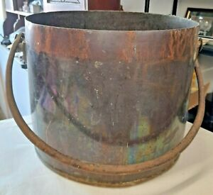 ANTIQUE ~ EXREMELY LARGE AND HEAVY ~ COPPER COOKING POT / CAULDRUN WITH LID