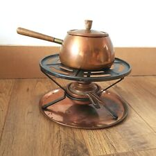 VINTAGE Perk COPPER FONDUE PAN AND BURNER SET SWISS