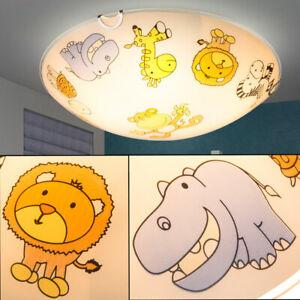 Zoo-Tiere Baby-Kinder-Lampe rund Spiel-Zimmer Beleuchtung Glas Decken-Leuchte