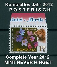 Rumänien 2012 komplettes ** Jahr ohne Blocks aus den Verkaufspackungen,Year 2012