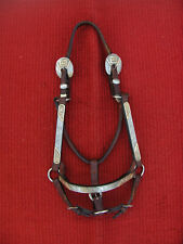 DALE CHAVEZ WESTERN SHOW HALTER with SILVER & GOLD - MARE SIZE