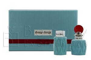 Miu Miu 2PC Gift Set by Miu Miu 1.7oz EDP +3.4oz B/L NIB For Women