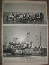Photo article memorial loss of South Goodwin Lightship 1954 ref X3