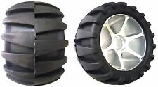 Two 113X64mm Off Road Longboard/Mountainboard Rubber Wheel W/Aluminum Core