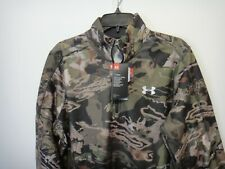 Under Armour Mens Coldgear Hunting Scent Control 1/4 Zip Jacket Forest Camo MD