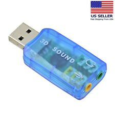 USB 2.0 Virtual 5.1 Channel Sound Card Adapter US SELLER