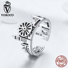 Charm For Girl Chain Bracelet Necklace Voroco 925 Sterling Silver London Ring