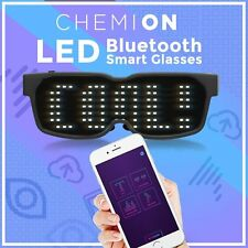 CHEMION 2 Unique Bluetooth LED Club Party Concert Sports Display glasses US SHIP