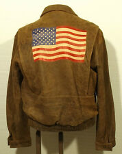 "men's WILSONS leather jacket bomber flight ""REMEMBER PEARL HARBOR"" patch size 42"