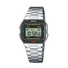 Casio A163WA/1Q Mens Classic Digital Wrist Watch Water Resistant Steel Band New