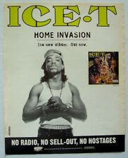 ICE-T 1993 promo Advert HOME INVASION body count