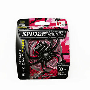 SpiderWire Stealth Superline Fishing Line 30lb 300yd, Pink Camo