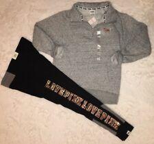 Victorias Secret VS PINK Bling Legging And Half Zip Pullover Set Size S