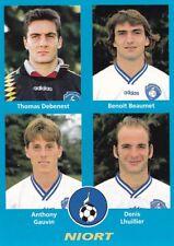 n° 402 VIGNETTE PANINI CHAMPIONNAT DE FRANCE 1996 4 joueurs NIORT