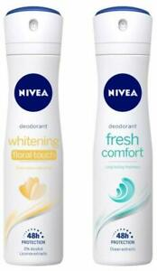 NIVEA Deodorant, Floral Touch 150ML + Deodorant,Fresh Comfort, Women, 150ML