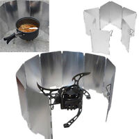 Wind Guard Camping Foldable Burner Windshield Cooking Wind Shield Durable