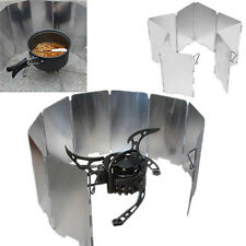 9 Panel Wind Guard Camping Foldable Burner Windshield Cooking Wind Shield