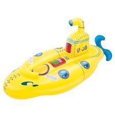 GRANDE GONFIABILE Yellow Submarine Piscina Ride On Galleggiante Barca Giocattolo Lilo 1098