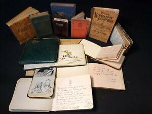 15 COMMONPLACE BOOKS & Ephemera MANUSCRIPTS Poetry DRAWINGS Joblot HAND WRITTEN