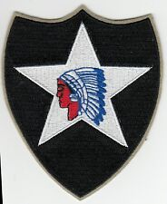 Lot of 2 patches 1st and 2nd Infantry div WW2 cut edge Quality REPRO