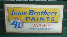 LOWE BROTHERS PAINTS LIGHTED ADVERTISING SIGN HARDWARE SHOP STORE COUNTER TOP